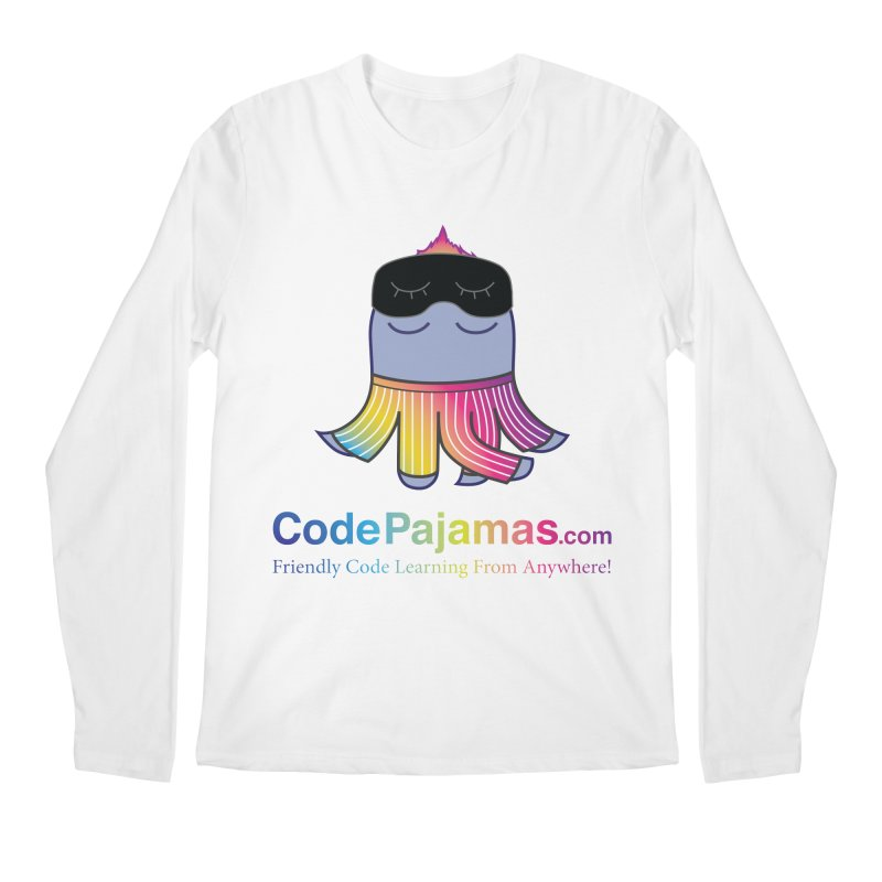 Code Pajamas: Rainbow PJs Logo Men's Regular Longsleeve T-Shirt by codepjs's Artist Shop