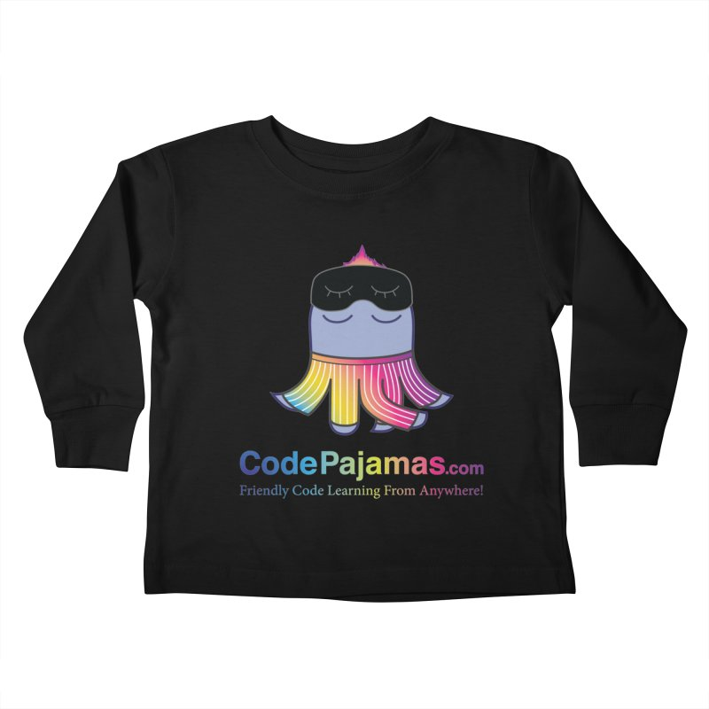 Code Pajamas: Rainbow PJs Logo Kids Toddler Longsleeve T-Shirt by codepjs's Artist Shop