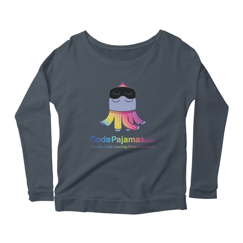 Code Pajamas: Rainbow PJs Logo Women's Scoop Neck Longsleeve T-Shirt by codepjs's Artist Shop