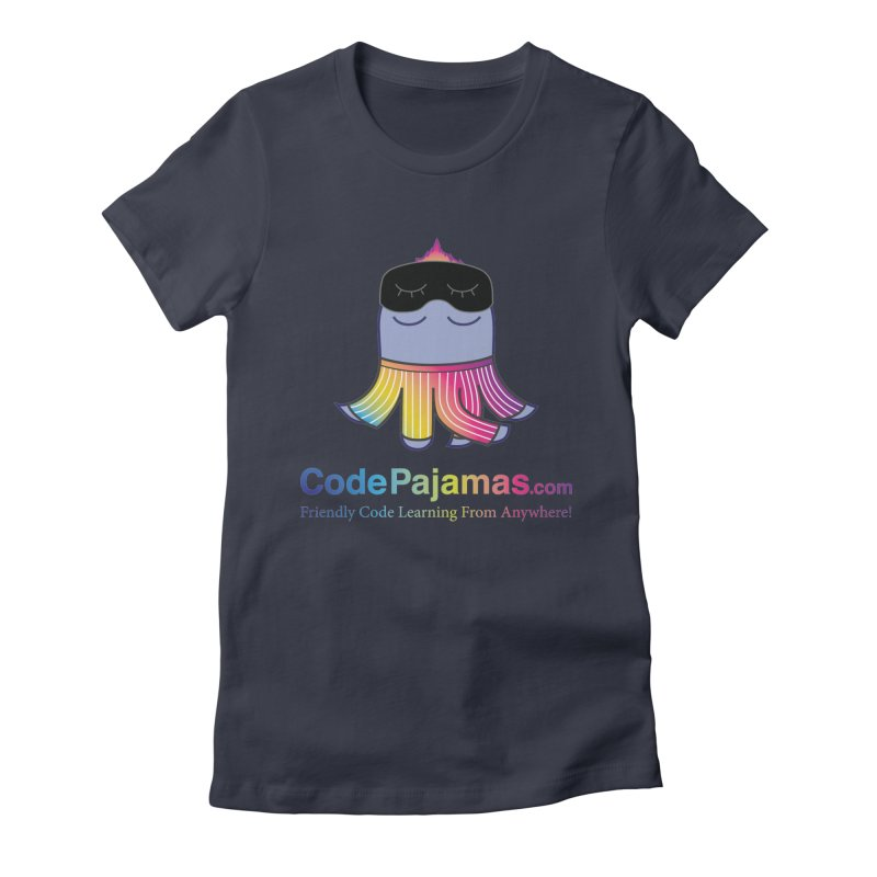 Code Pajamas: Rainbow PJs Logo Women's Fitted T-Shirt by codepjs's Artist Shop