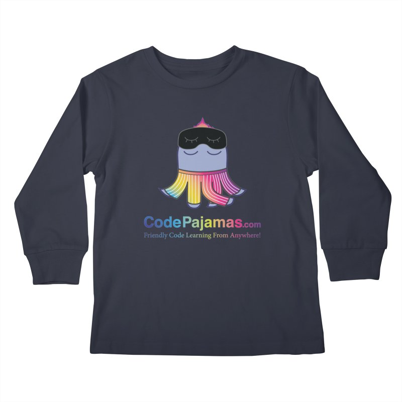 Code Pajamas: Rainbow PJs Logo Kids Longsleeve T-Shirt by codepjs's Artist Shop