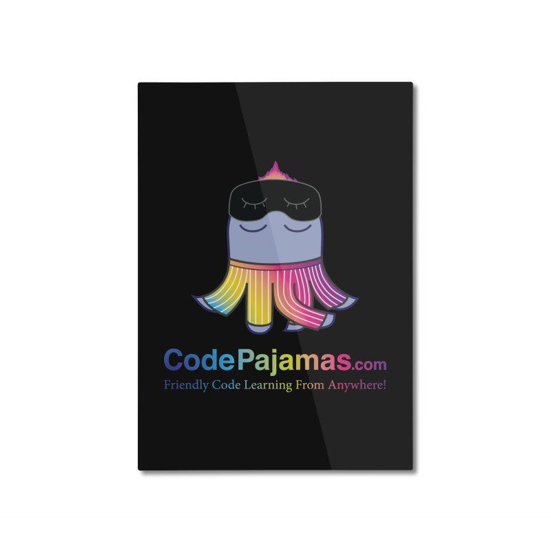 Code Pajamas: Rainbow PJs Logo Home Mounted Aluminum Print by codepjs's Artist Shop