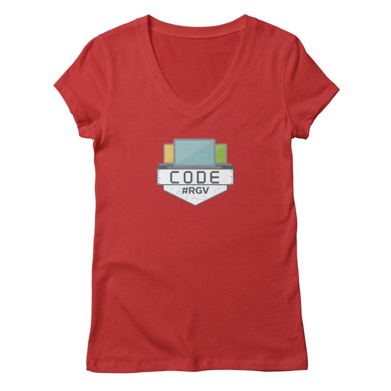 CodeRGV Women's Regular V-Neck by CodeRGV's Artist Shop