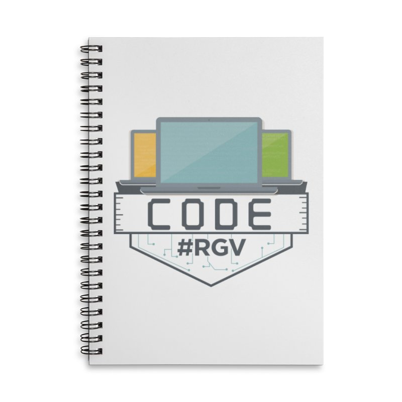 CodeRGV Accessories Lined Spiral Notebook by CodeRGV's Artist Shop