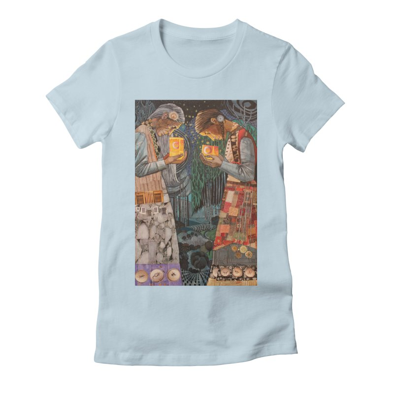 Ruth and Naomi's Light Women's Fitted T-Shirt by Cody F. Miller's Artist Shop