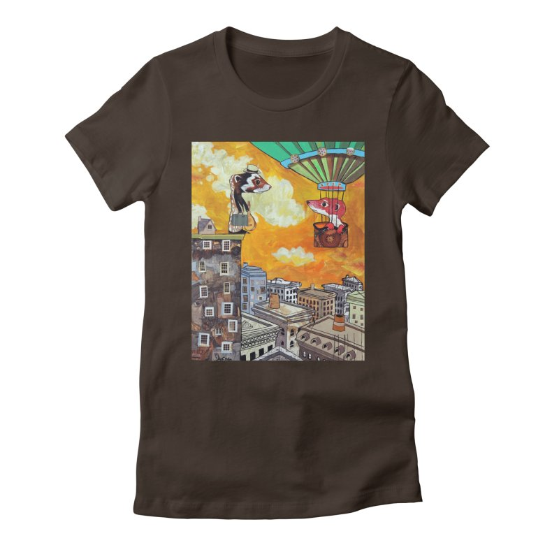 The Way Home Women's Fitted T-Shirt by Cody F. Miller's Artist Shop