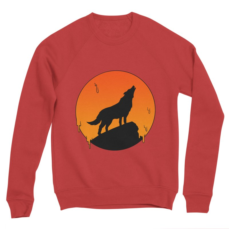 Wolf Men's Sponge Fleece Sweatshirt by coffeeman's Artist Shop