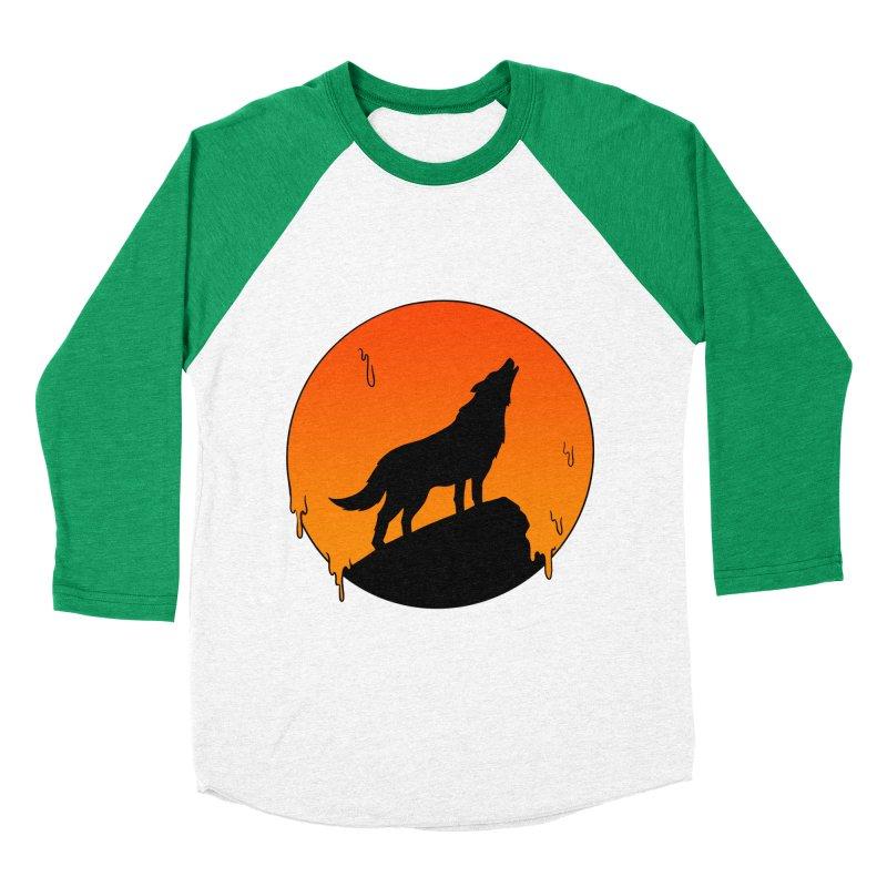 Wolf Women's Baseball Triblend Longsleeve T-Shirt by coffeeman's Artist Shop