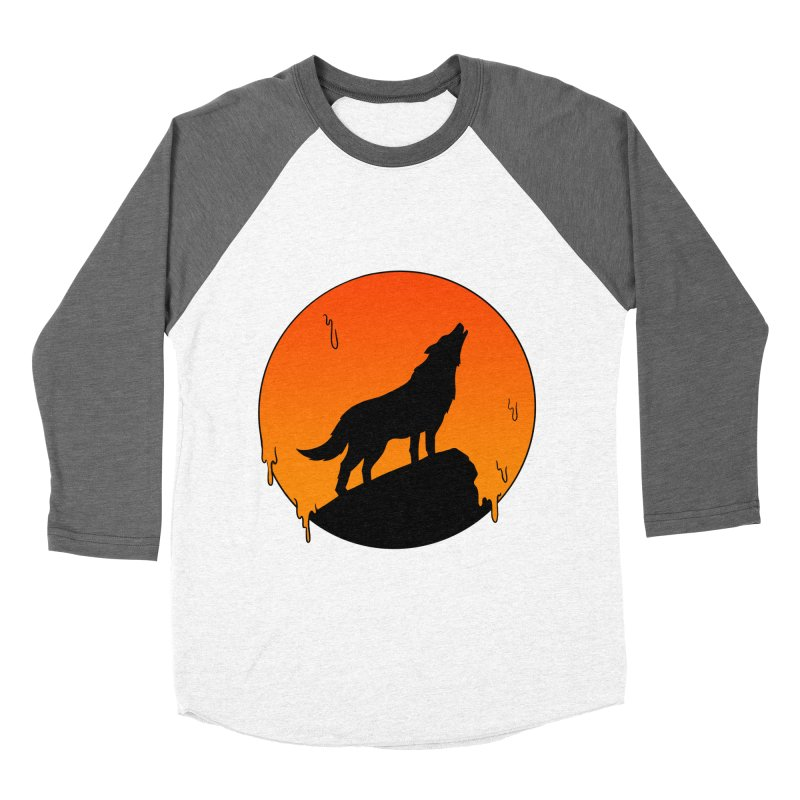 Wolf Men's Baseball Triblend Longsleeve T-Shirt by coffeeman's Artist Shop