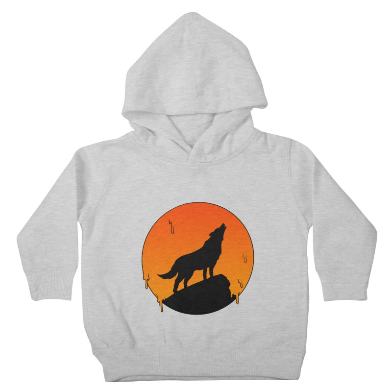 Wolf Kids Toddler Pullover Hoody by coffeeman's Artist Shop