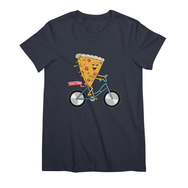 Bicycle Women's Premium T-Shirt by coffeeman's Artist Shop
