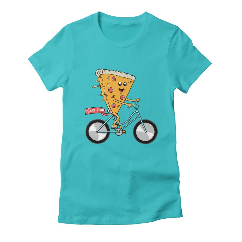 Bicycle Women's Fitted T-Shirt by coffeeman's Artist Shop