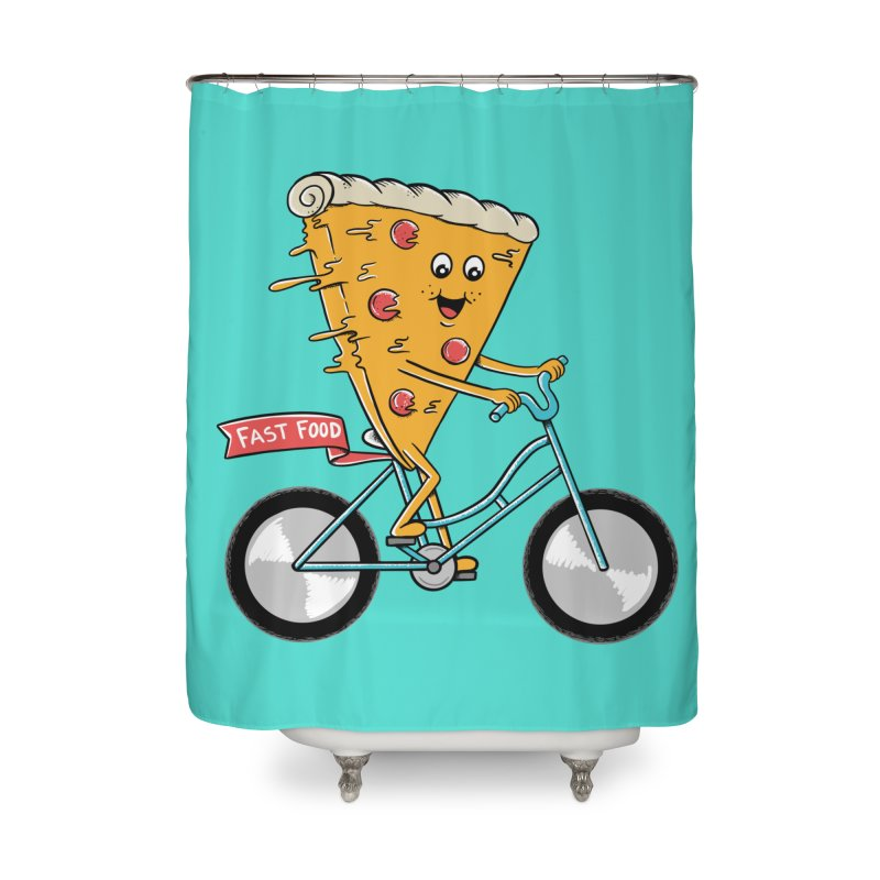 Bicycle Home Shower Curtain by coffeeman's Artist Shop