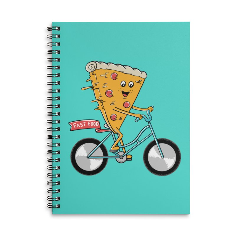 Bicycle Accessories Lined Spiral Notebook by coffeeman's Artist Shop