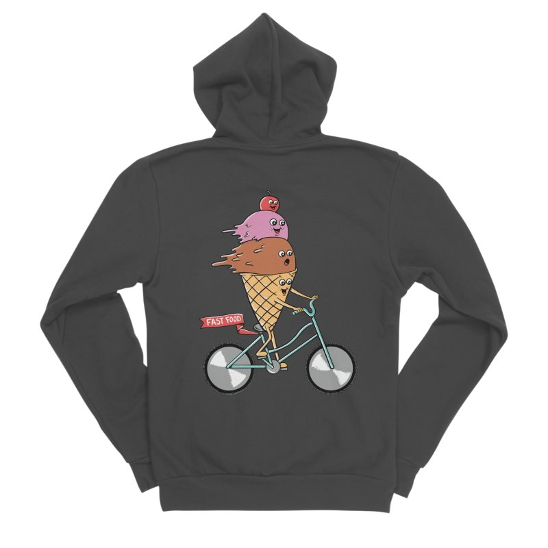 Bicycles Women's Sponge Fleece Zip-Up Hoody by coffeeman's Artist Shop