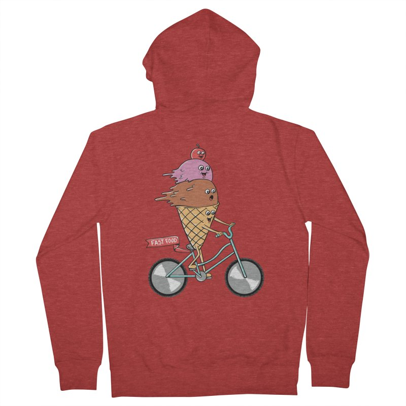 Bicycles Men's French Terry Zip-Up Hoody by coffeeman's Artist Shop