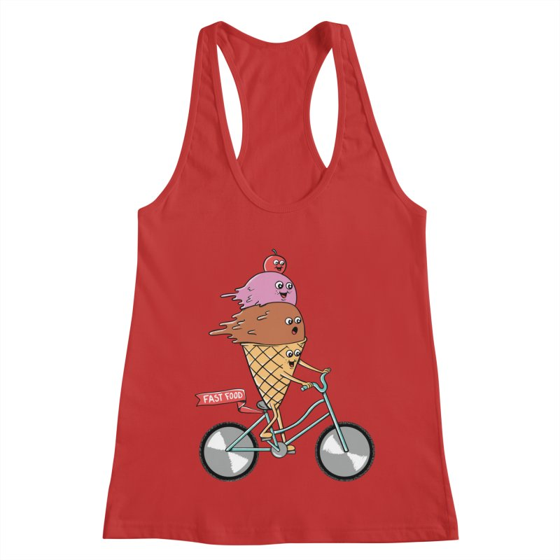 Bicycles Women's Racerback Tank by coffeeman's Artist Shop