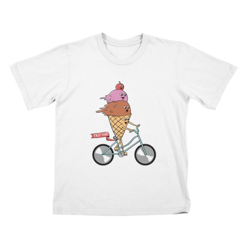 Bicycles Kids T-Shirt by coffeeman's Artist Shop