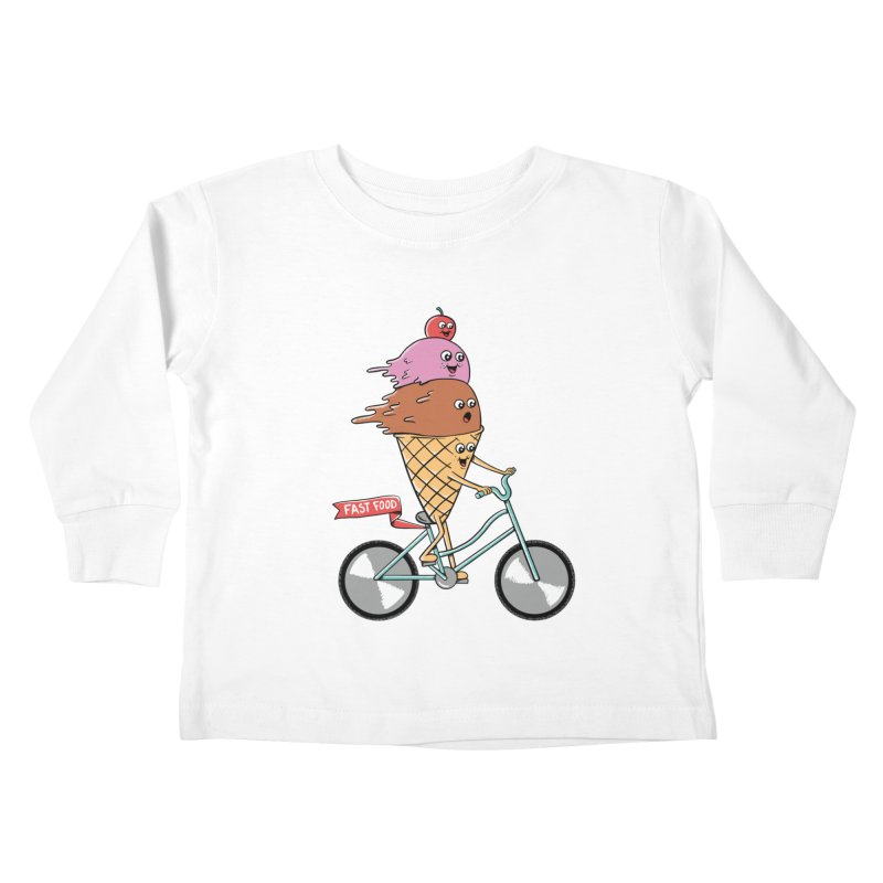 Bicycles Kids Toddler Longsleeve T-Shirt by coffeeman's Artist Shop