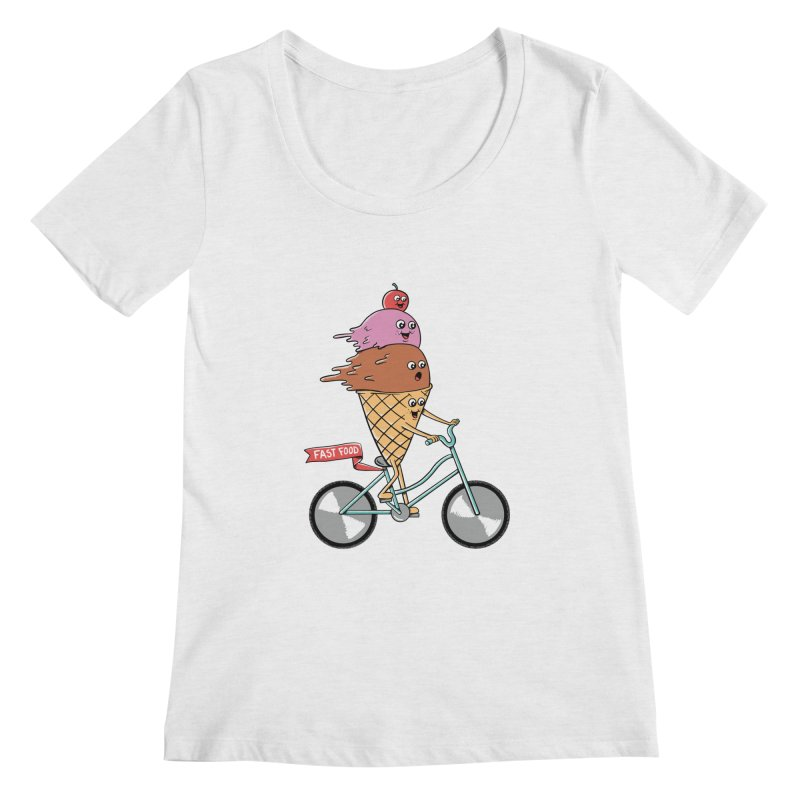 Bicycles Women's Regular Scoop Neck by coffeeman's Artist Shop