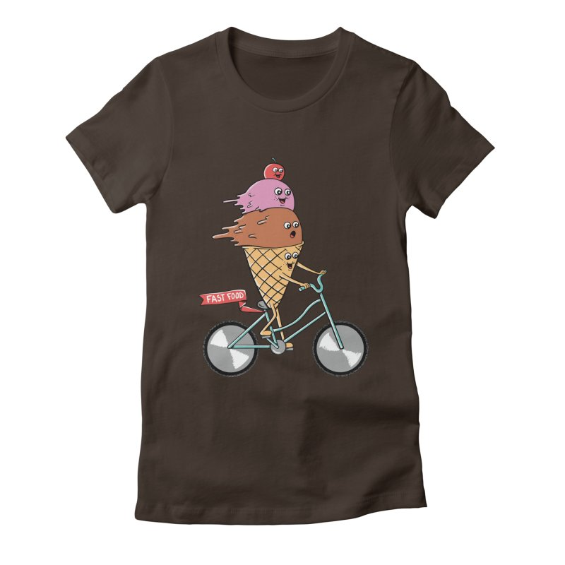 Bicycles Women's Fitted T-Shirt by coffeeman's Artist Shop