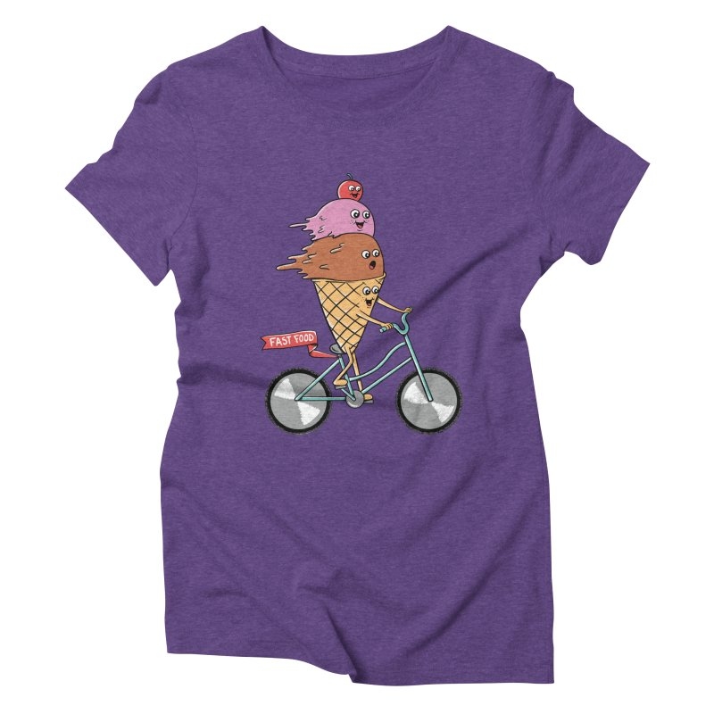 Bicycles Women's Triblend T-Shirt by coffeeman's Artist Shop