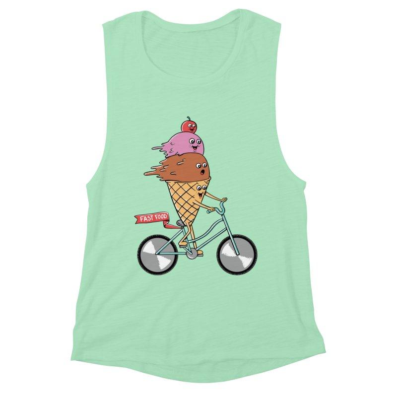 Bicycles Women's Muscle Tank by coffeeman's Artist Shop