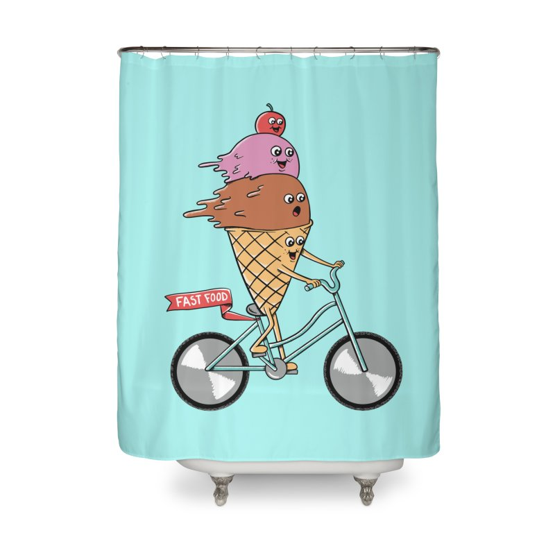 Bicycles Home Shower Curtain by coffeeman's Artist Shop