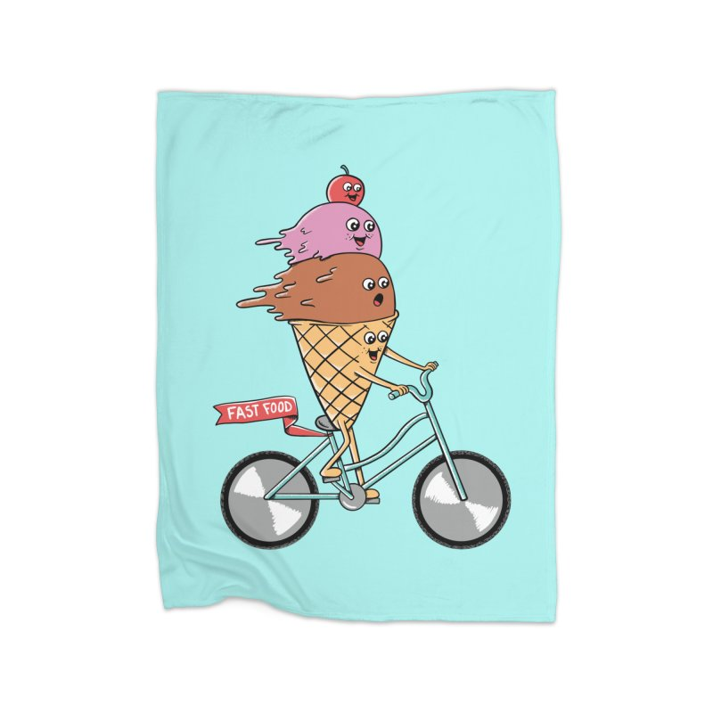 Bicycles Home Fleece Blanket Blanket by coffeeman's Artist Shop