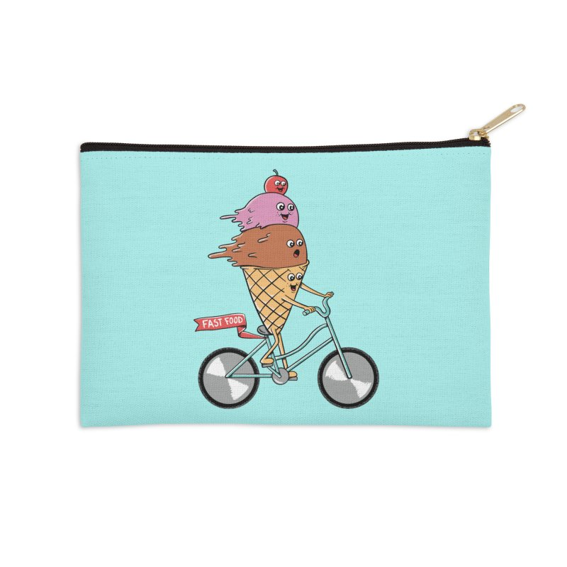 Bicycles Accessories Zip Pouch by coffeeman's Artist Shop