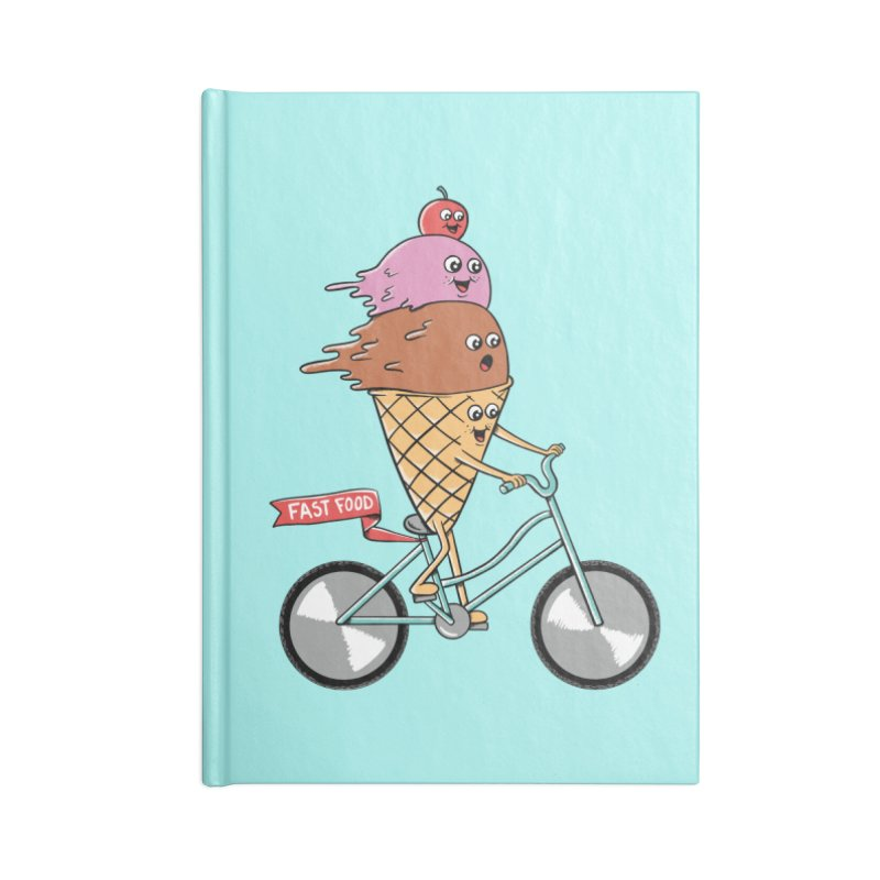 Bicycles Accessories Lined Journal Notebook by coffeeman's Artist Shop