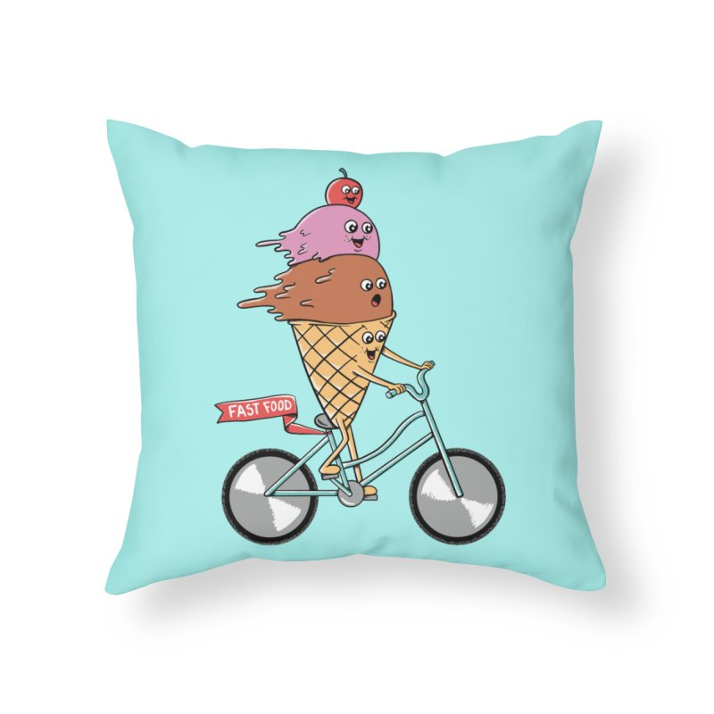Bicycles Home Throw Pillow by coffeeman's Artist Shop