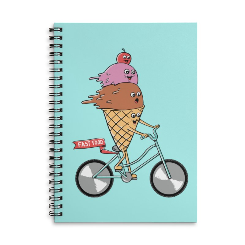 Bicycles Accessories Lined Spiral Notebook by coffeeman's Artist Shop