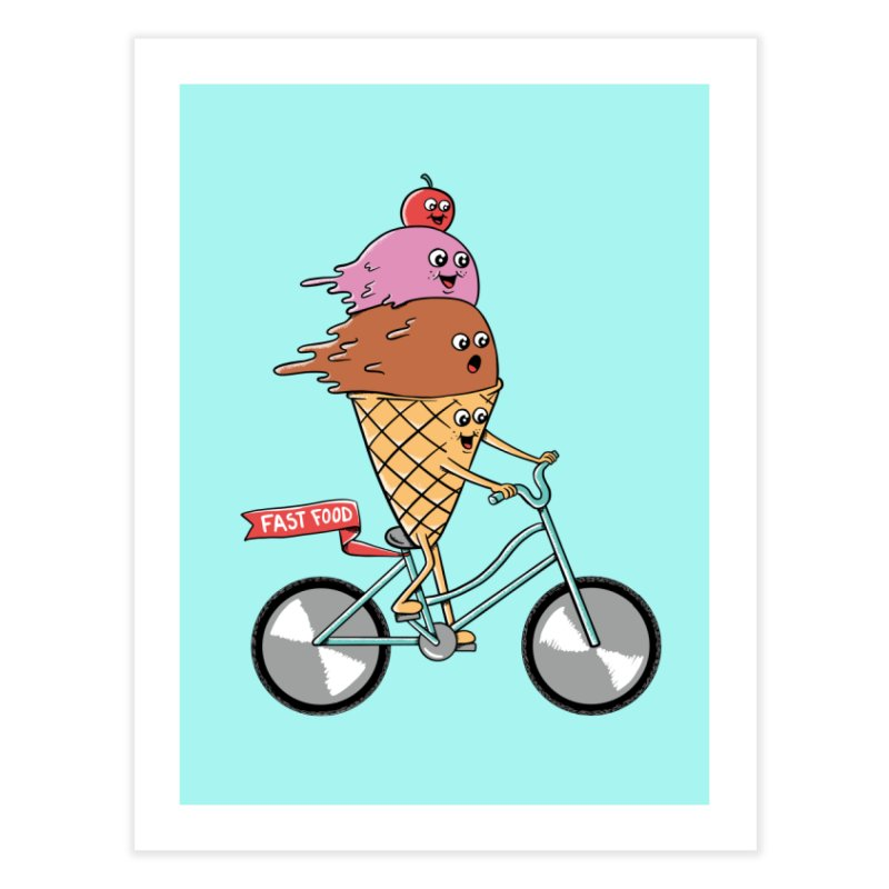 Bicycles Home Fine Art Print by coffeeman's Artist Shop