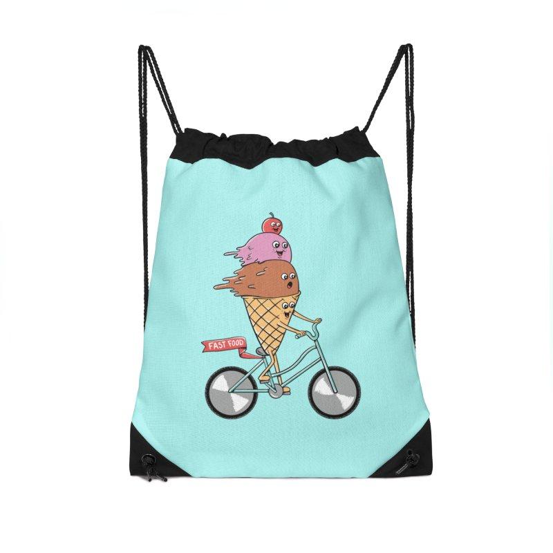 Bicycles Accessories Drawstring Bag Bag by coffeeman's Artist Shop
