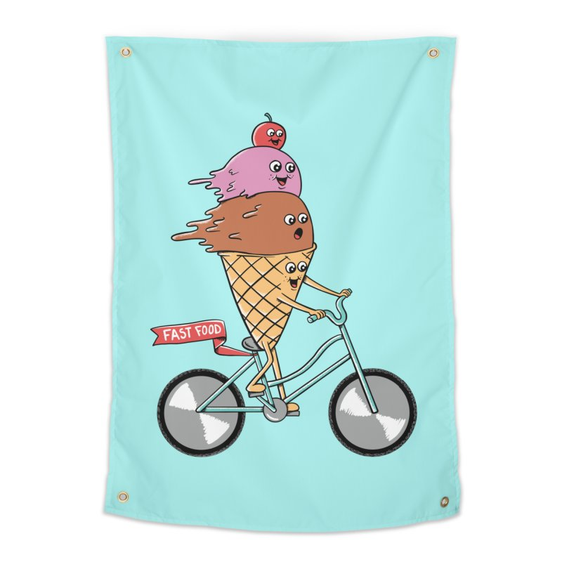 Bicycles Home Tapestry by coffeeman's Artist Shop