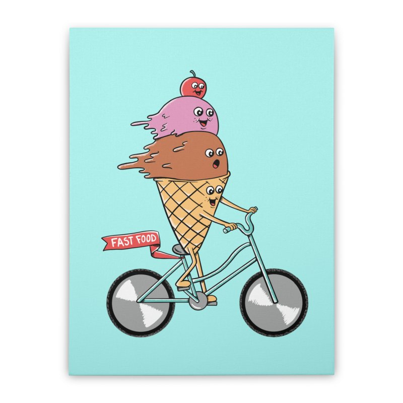 Bicycles Home Stretched Canvas by coffeeman's Artist Shop