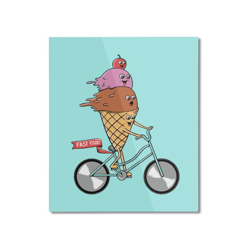 Bicycles Home Mounted Aluminum Print by coffeeman's Artist Shop