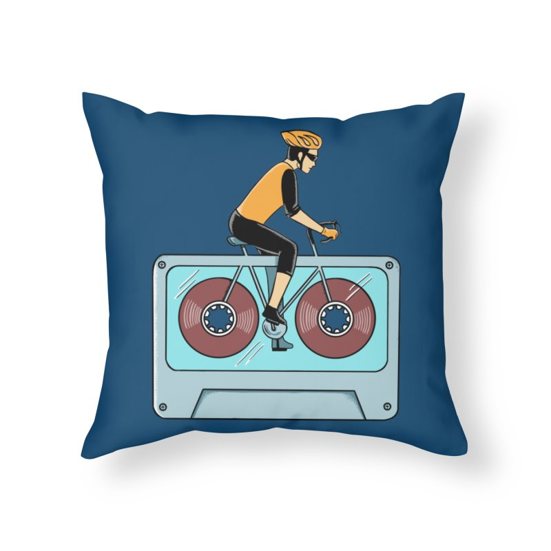Bicycle Home Throw Pillow by coffeeman's Artist Shop