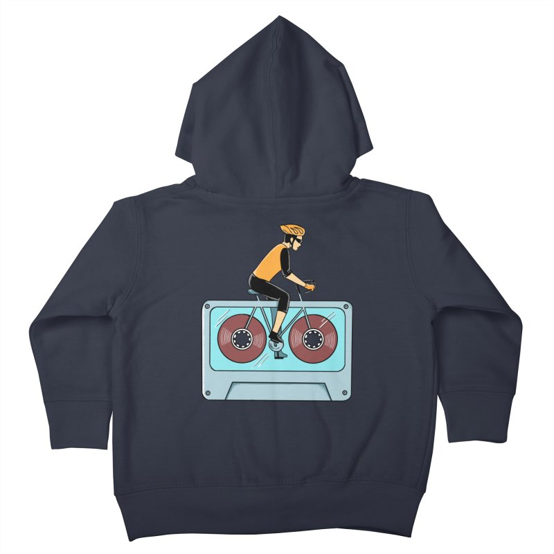 Bicycle Kids Toddler Zip-Up Hoody by coffeeman's Artist Shop