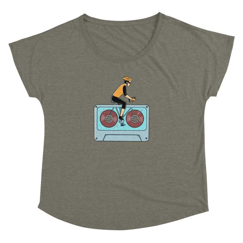 Bicycle Women's Dolman Scoop Neck by coffeeman's Artist Shop
