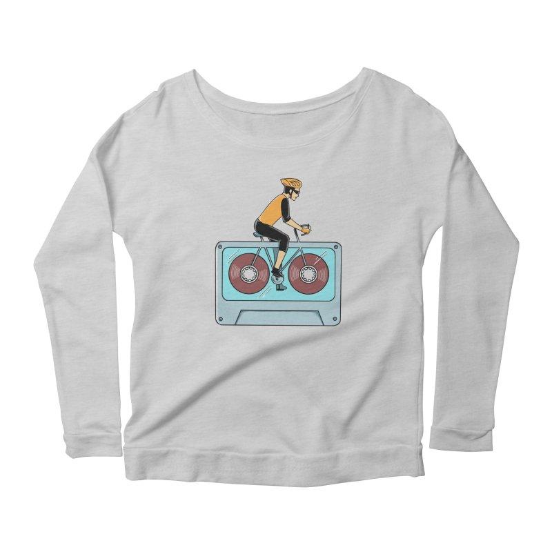Bicycle Women's Scoop Neck Longsleeve T-Shirt by coffeeman's Artist Shop