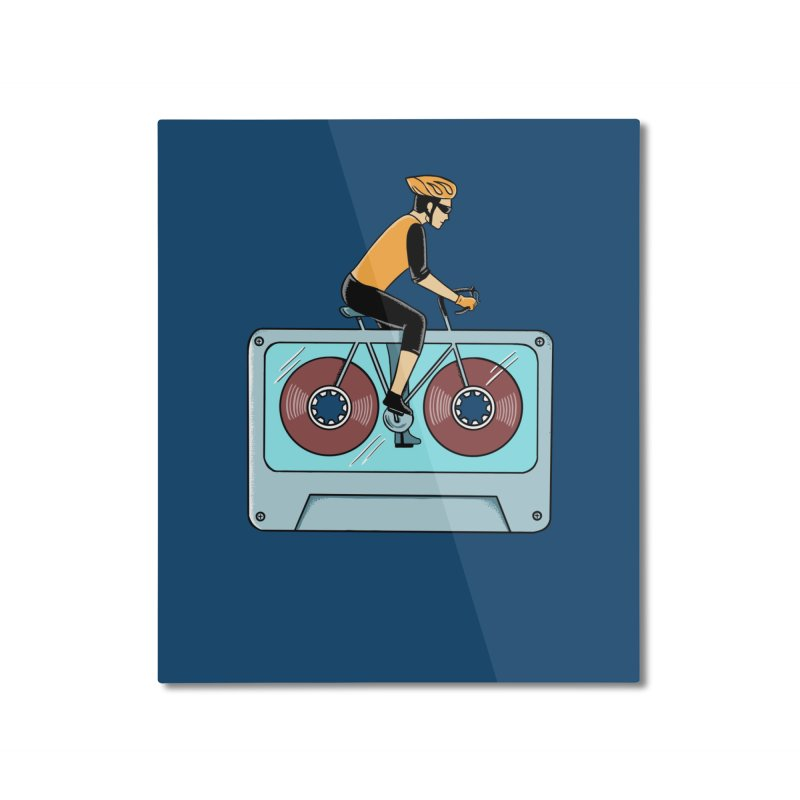 Bicycle Home Mounted Aluminum Print by coffeeman's Artist Shop