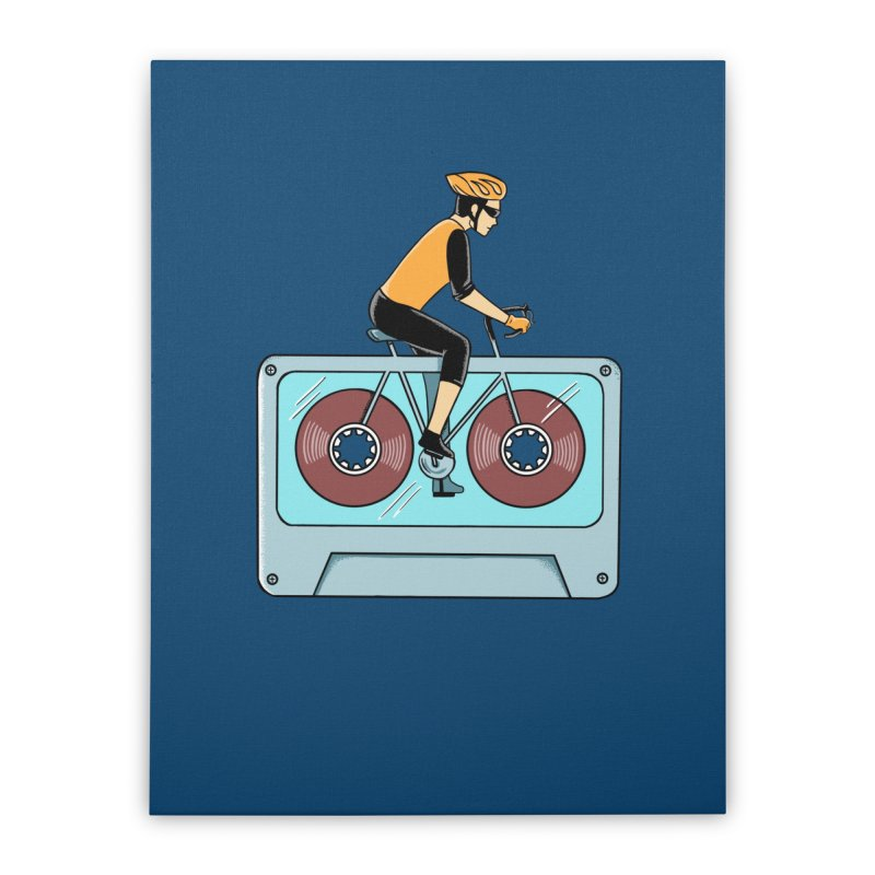 Bicycle Home Stretched Canvas by coffeeman's Artist Shop