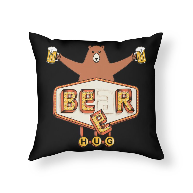 Beer Home Throw Pillow by coffeeman's Artist Shop
