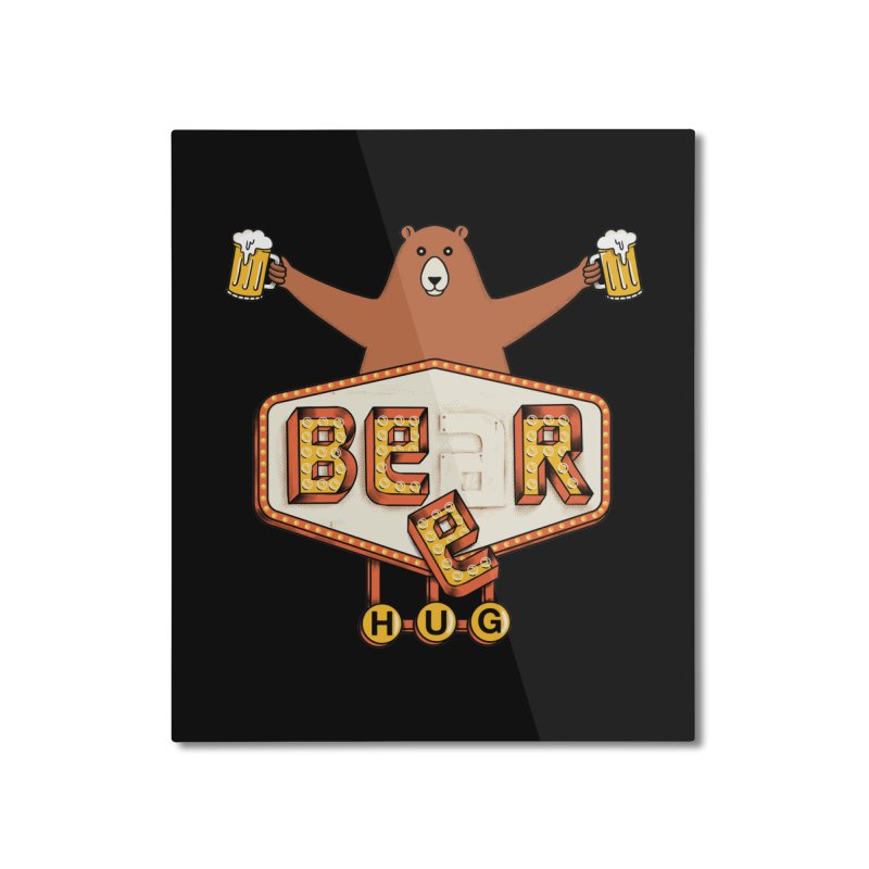 Beer Home Mounted Aluminum Print by coffeeman's Artist Shop