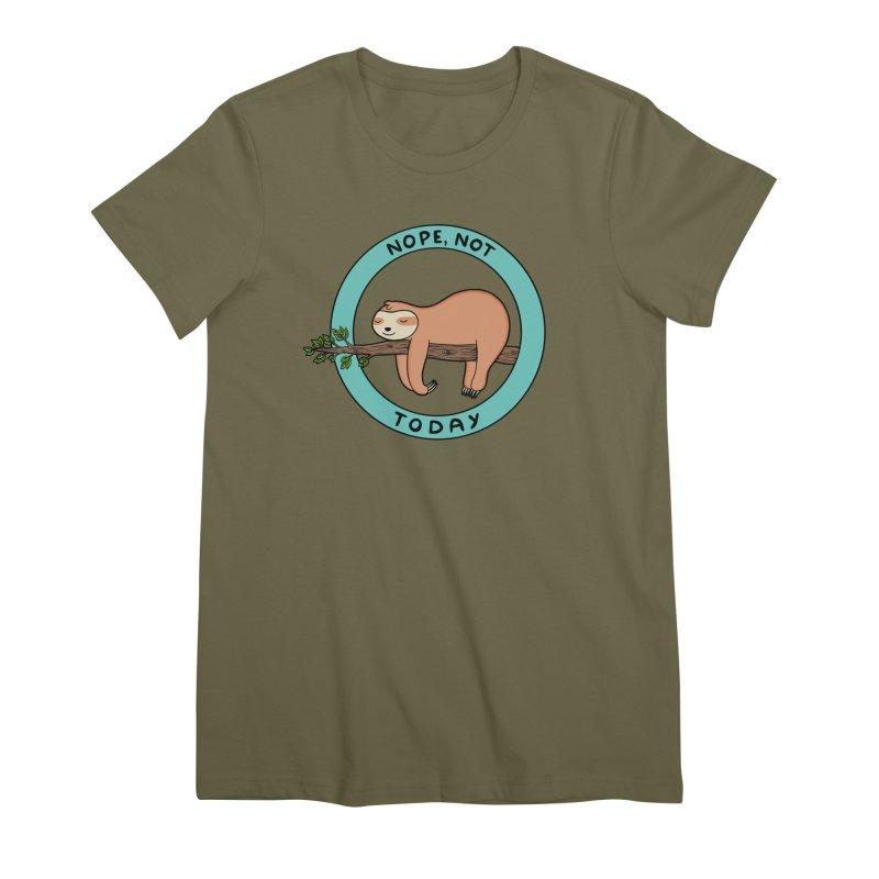 Sloth Women's Premium T-Shirt by coffeeman's Artist Shop