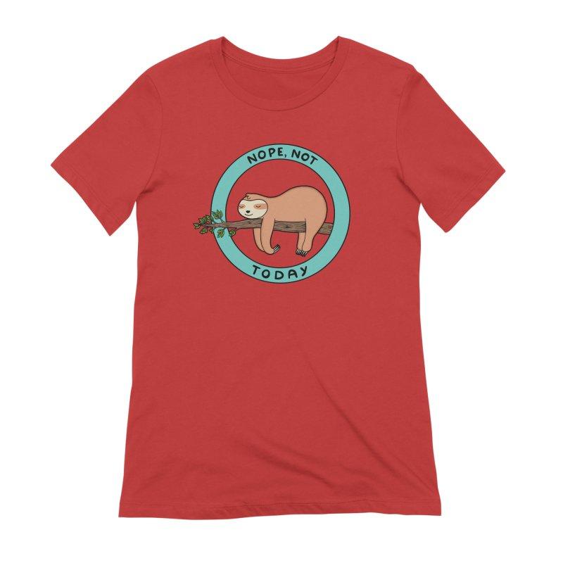 Sloth Women's Extra Soft T-Shirt by coffeeman's Artist Shop