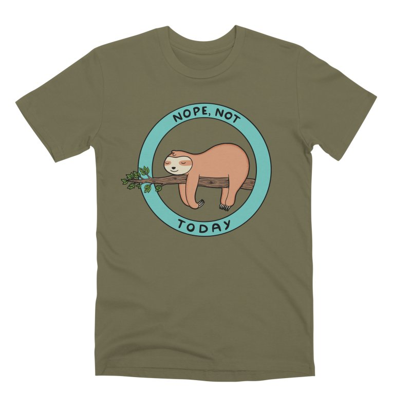 Sloth Men's Premium T-Shirt by coffeeman's Artist Shop