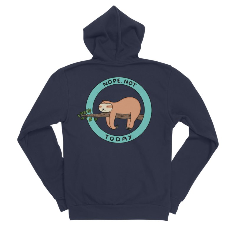 Sloth Women's Sponge Fleece Zip-Up Hoody by coffeeman's Artist Shop